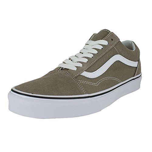 Galleon - Vans Womens Old Skool Desert Taupe True White Sneaker - 6.5 4e97b1e0c