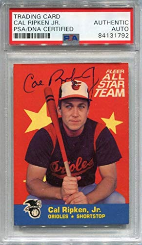 - Cal Ripken Jr. Autographed 1986 Fleer Card (PSA) - Baseball Slabbed Autographed Cards
