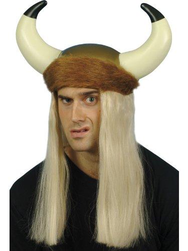 Blonde Hair & Fur Trim Viking ()