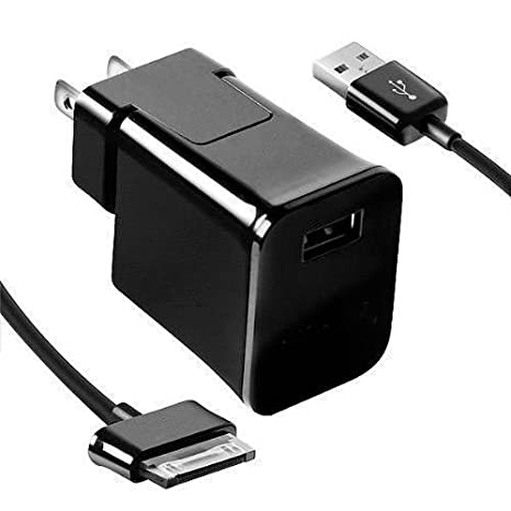 For Galaxy Tab 2 10.1 SPH-P500 (Sprint)Black Home Wall Travel Charger Adapter with Data Cable