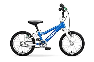 "Woom 2 Pedal Bike 14"", Ages 3 to 4.5 Years, Blue"