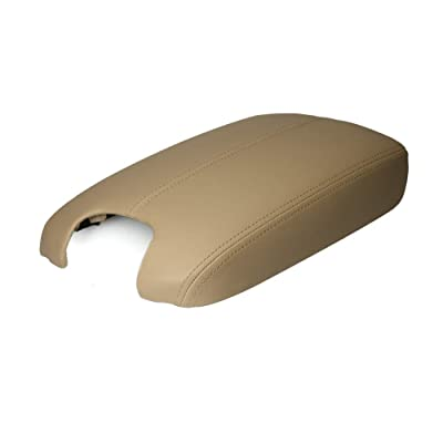 A ABIGAIL Center Console Armrest Cover for 2008 2009 2010 2011 2012 Honda Accord Auto Leather Suture Console Lid Cover Replacement (Beige): Automotive [5Bkhe1513691]