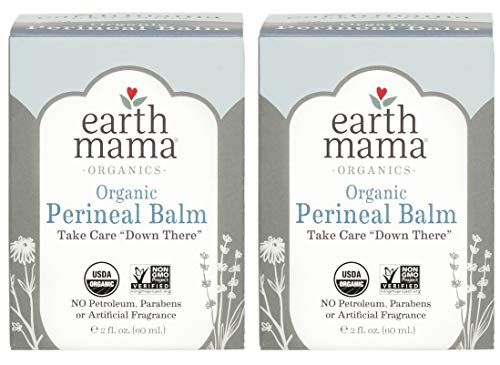 Organic Perineal Balm by Earth Mama | Naturally Cooling Herbal Salve for Pregnancy and Postpartum Relief, 2-Fluid Ounce - Perineal Ointment