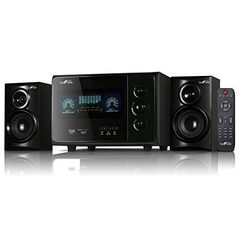 beFree Sound BFS45L-2016A 2.1 Channel Surround Sound Bluetooth Speaker System, Black by BEFREE SOUND