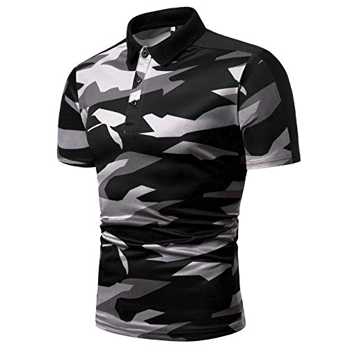 Polo Homme,Camouflage Bande Hommes Grande Taille Chemisier Top Casual Polo Militaire Quick Dry Respirant Et Imperméable… 4