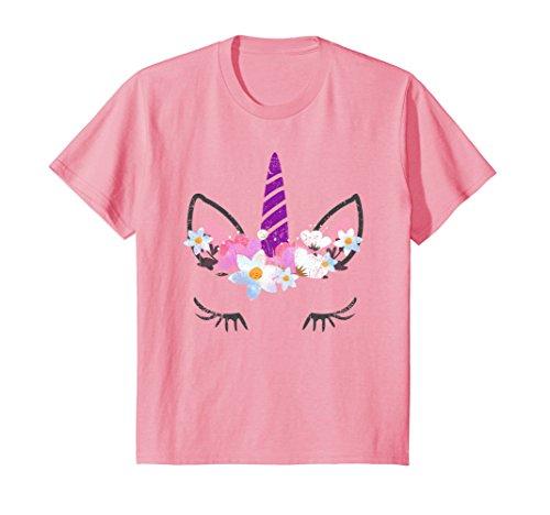 Kids Unicorn Face Halloween T-Shirt 10 (Halloween Tshirts For Girls)