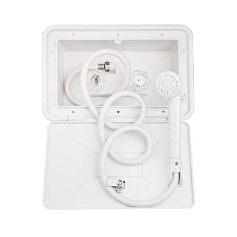 Amazon.com: Dura Faucet (DF-SA170-WT Exterior Shower Box Kit with ...