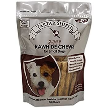 Amazon.com : Tartar Shield Soft Rawhide Chews for Large