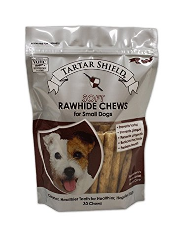 Giant Rawhide (Tartar Shield Soft Oral Care Rawhide Chews for Small Dogs 30 Count - Prevents Tartar, Plaque, Gingivitis, Reduces Bacteria, and Freshens Breath 1 Pack)