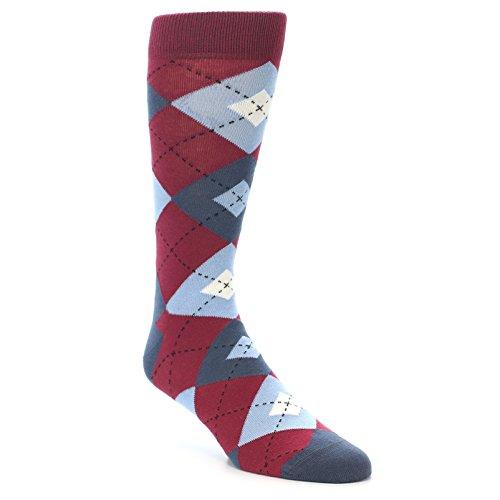 Statement Sockwear Apple Red/Blue Argyle Men's Socks
