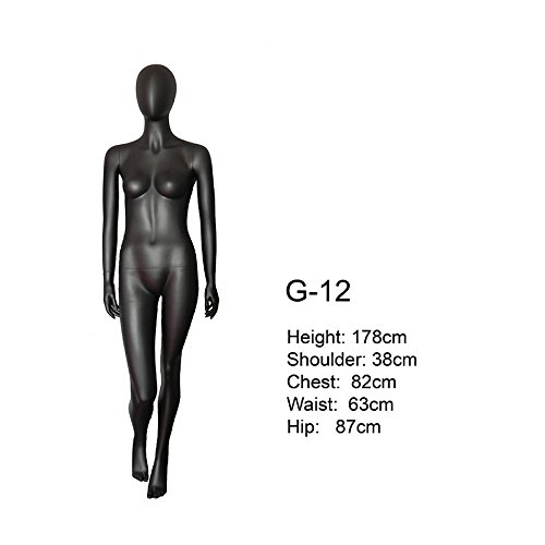 BEIYANG Female Mannequin Torso Dress Form Display Stand Designer Pattern (4) by BEIYANG