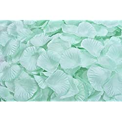 La Tartelette Silk Rose Petals Wedding Flower Decoration (1000 Pcs, Light Aquamarine)