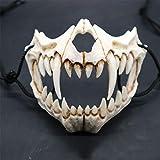RONSHIN Japanese Gods Style Deluxe Resin Ninja Mask Prom Performance Art Mask Tiger Mouth