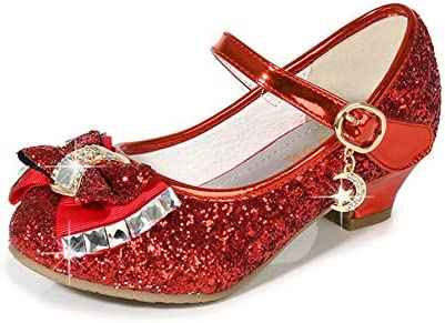 Toddler//Little Kid//Big Kid Cadidi Dinos Girls Dress Shoes Wedding Party Heel Mary Jane Princess Flower Shoes