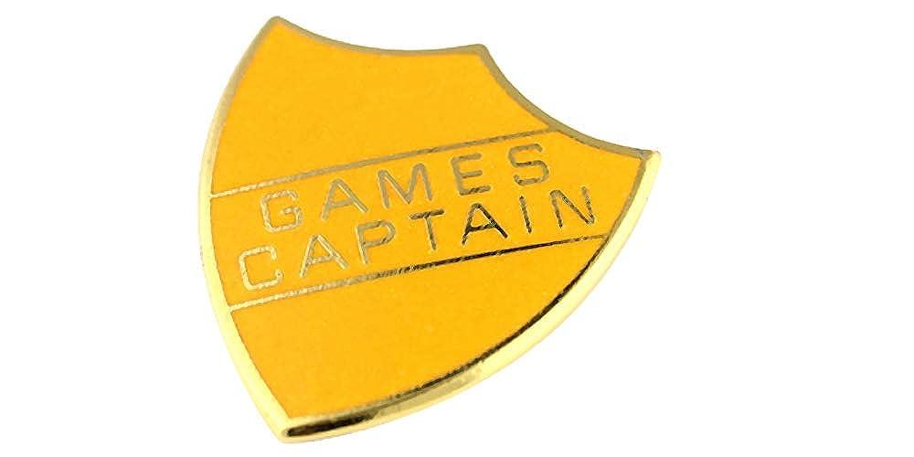 Games Captain School Shield Badge Handmade Vitreous Enamel