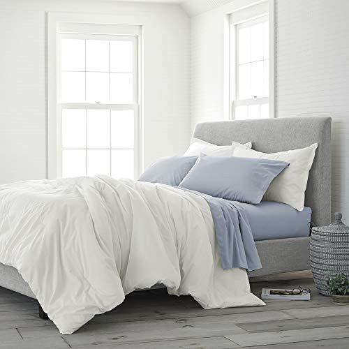 EcoPure 100% Organic Cotton Wash Comforter Set King Soft White