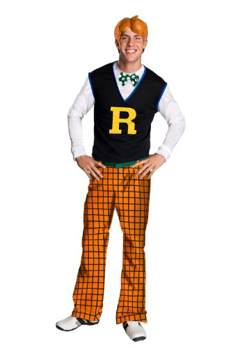 Costumes For 1950s Guys (Archie Comics Costume, Blue/Orange, One)