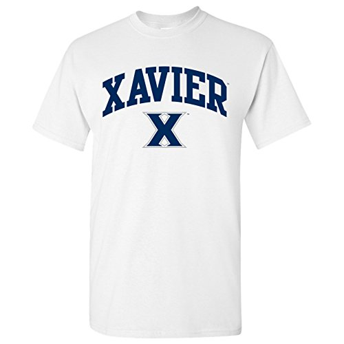 Xavier Musketeers Arch Logo T-Shirt - Small - (White Logo Arch)