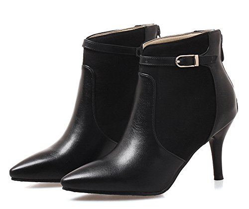 Ankle Black Booties Toe Aisun Dressy Pointed Women's Buckle Xf0Pq8w
