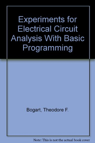 Experiments for Electrical Circuit Analysis With Basic Programming