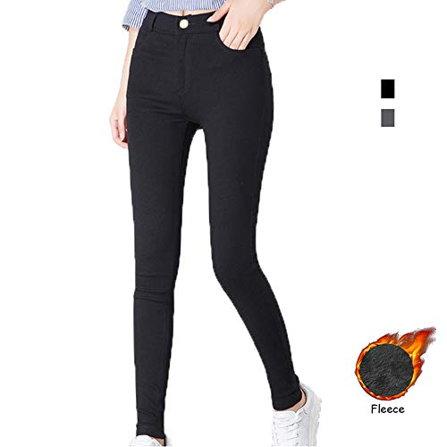 Pants Jeans Velvet (Yehopere Women Skinny Pants Winter Pants Fleece Lined Zip Slim Fit High Waist Jeggings)