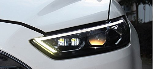 GOWE Car Styling For Ford Mondeo 2013-2015 LED Headlight for Fusion Head Lamp LED Daytime Running Light LED DRL Bi-Xenon HID Color Temperature:8000k;Wattage:55w 1
