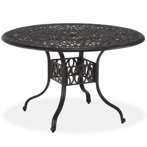 Floral Blossom Charcoal 42-Inch Round Dining Table by Home Styles