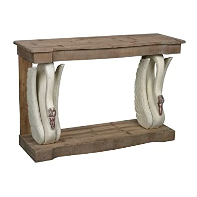 Sterling Industries 138-088 Baywood Swan Console with Wooden Top,