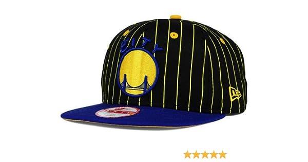 8065eb6a Amazon.com : Golden State Warriors New Era NBA Hardwood Classics Vintage  Pinstripe 9FIFTY Snapback Cap Hat : Sports & Outdoors