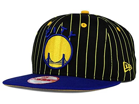 2901f037358 Image Unavailable. Image not available for. Color  Golden State Warriors New  Era NBA Hardwood Classics Vintage Pinstripe 9FIFTY Snapback Cap Hat