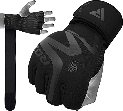 RDX Boxing Hand Wraps Inner Gloves for Punching, Neoprene Padded Fist Protector Under Mitts with Long Wrist Support…