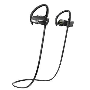 VicTsing Auriculares Bluetooth 4.1 Inalámbrico Con Sonido Estéreo para Deporte / Correr con AptX y Manos Libres para iPhone7, Sony, HUAWEI, XIAOMI etc- Color Negro