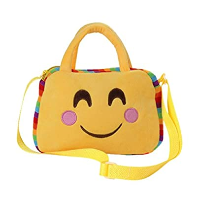 94266504f216 Artistic9(TM) Cute Kids Emoticon Handbag Villus Plush Shoulder ...