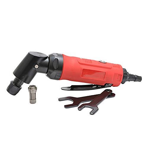 (Pneumatic Grinding Machine Polishing Tool Polishing Machine/Sandpaper Machine Cleaning Finishing, Car Maintenance, Removing Rust, Burrs,Elbow, 1800rpm,Red)