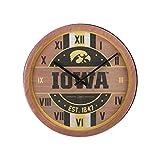 FOCO Iowa Hawkeyes NCAA Barrel Wall Clock