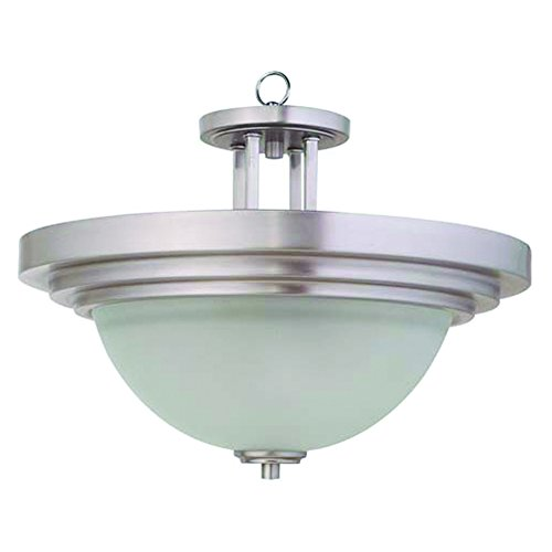 Yosemite Home Decor 4202-2SN   2 Lights Pendant, Satin Nickel -