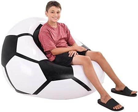 Neliblu - Puf Inflable de fútbol, Muy cómodo, fácil de inflar, se desinfla y se Mueve de una habitación a Otra: Amazon.es: Hogar