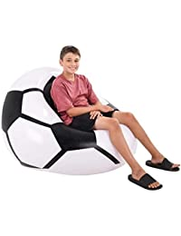 Soccer Inflatable Beanless Bean Bag Chair - Super Comfy...