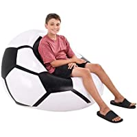 Neliblu Soccer Inflatable Beanless Bean Bag Chair - Super...