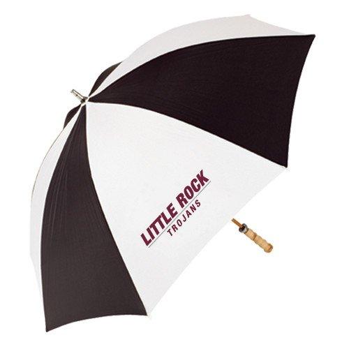 アーカンソー州リトルロック62インチブラック/ホワイト傘' Little Rock Trojansフラット'   B01JH3VHMK