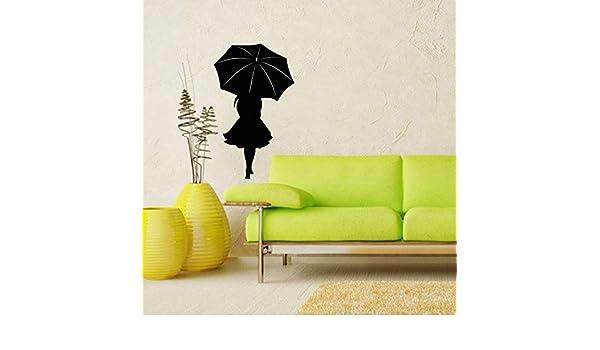 pegatinas de pared star wars pegatinas de pared juveniles Chica con un paraguas para la sala de estar Dormitorio decoración del hogar: Amazon.es: Bricolaje ...