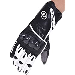 Seibertron SP2 SP-2 ADULT On-Road Street Racing Motorcycle Gloves Genuine Leather Gloves white+black L&Large