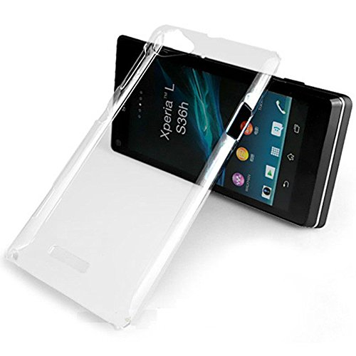 watch b0873 94659 Gioiabazar Crystal Clear Transparent Hard Back Case Cover for Sony Xperia L  C2104