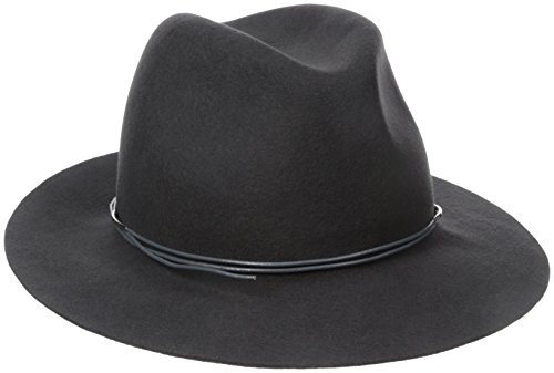Hat Attack Women's Wool Felt Avery Fedora Hat, Charcoal/Charcoal, One Size by Hat Attack