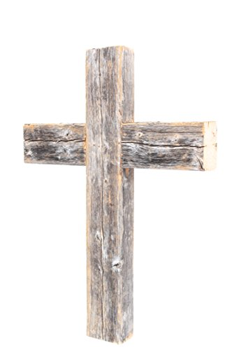 BarnwoodUSA Rustic 12 by 16 by 2 Inch Old Wooden Cross - 100% Reclaimed Wood, Weathered (Rustic Wall Cross)