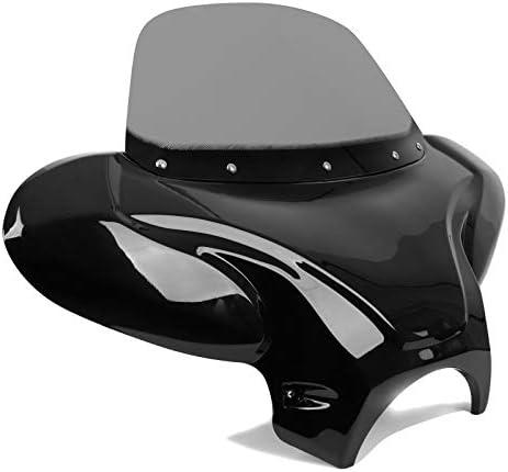 Batwing Windschild f/ür Suzuki Intruder VS 1400 Verkleidung rauchgrau