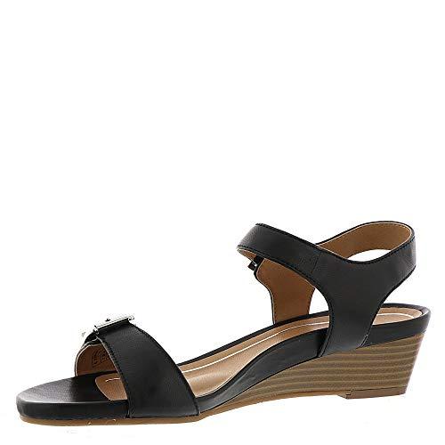 Womens Frances Sandals Port Leather Vionic Black 7RqS044w