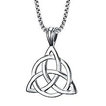 Men's Stainless Steel Irish Celtic Triquetra Triangle