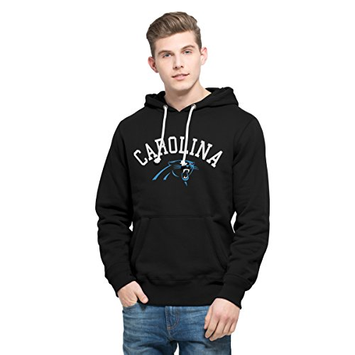 NFL Carolina Panthers Men's 47 Cross Check Printed Hoodie, Small, Jet Black
