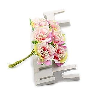FLOWER artificial silk rose bouquet for wedding home decoration DIY garland scrapbook gift box craft 30pcs/lot 3cm (pink) 111